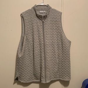 Christopher & banks soft gray vest